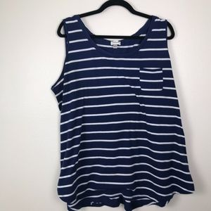 3/$20 Avenue Striped High Low Tank Top